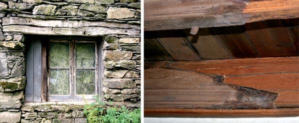 C mo reparar una estructura de madera antigua casas de - Como arreglar puertas de madera rayadas ...
